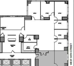 """142 West 57th St """"Metropolitan Tower"""" 4,658 RSF. Asking $59 PSF."""