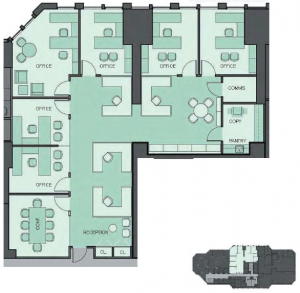 156 West 56th Street CitySpire 3,525 RSF Asking $63 PSF