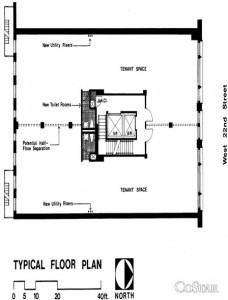30 West 22nd Street; 5,675 RSF. Asking $39.50 PSF